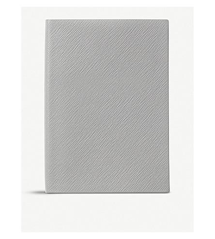 SMYTHSON Soho leather notebook 20cm (Grey