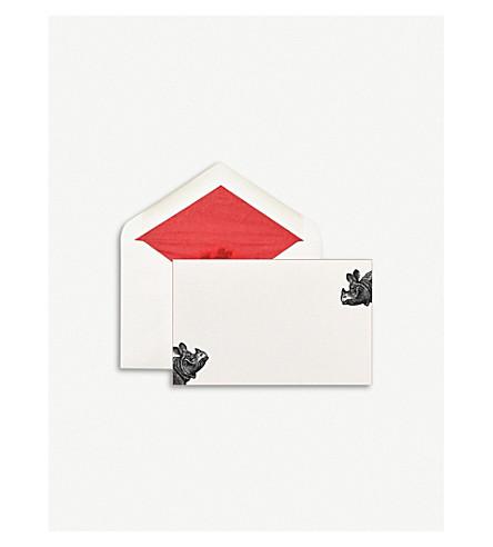 SMYTHSON Rhino correspondence cards pack of 10 (White