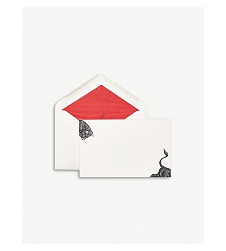 SMYTHSON Bull correspondence cards pack of 10 (White