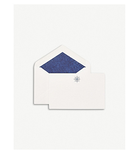 SMYTHSON Compass correspondence cards pack of 10 (White