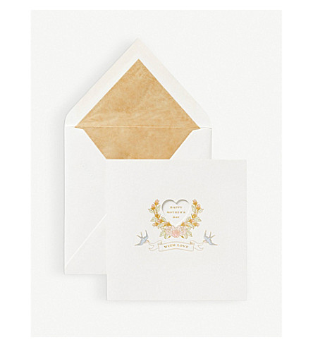 SMYTHSON Happy Mother's Day card (White