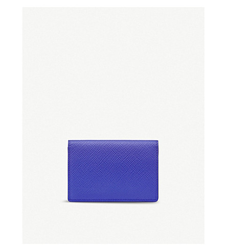 SMYTHSON Panama cross-grain leather business and credit card case