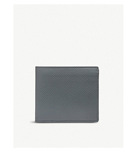 SMYTHSON Panama leather wallet with coin pocket