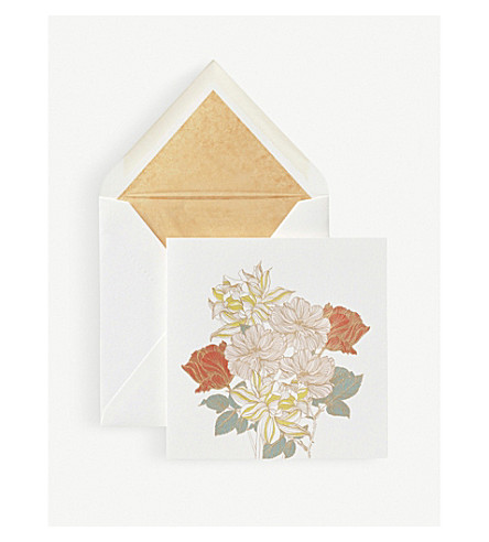 SMYTHSON Bouquet mother's day card (White
