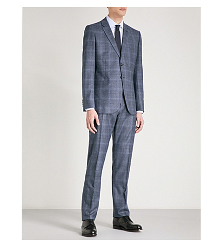REISS Caine modern-fit wool suit (Airforce+blue