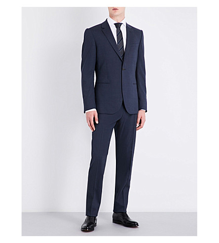 REISS Cash slim-fit stretch-wool suit (Airforce+blue