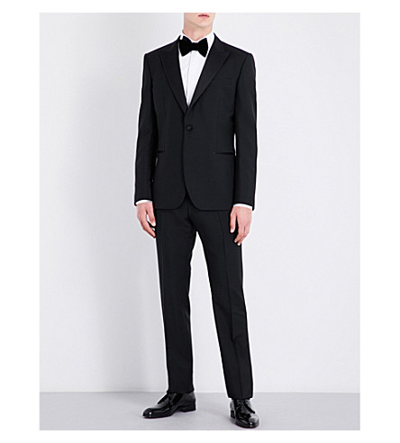 REISS Modern-fit wool and mohair-blend suit (Black