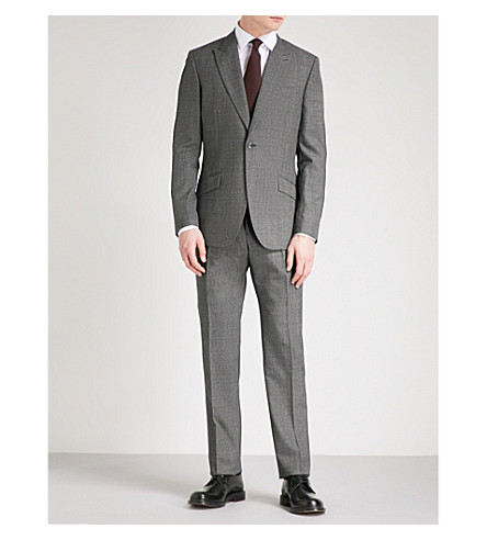 REISS Angel modern-fit wool suit (Black/white