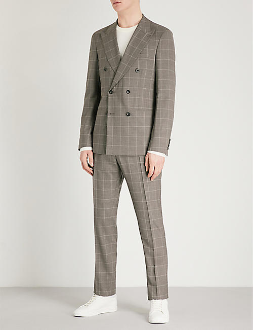 REISS Belvedere slim-fit double-breasted wool suit