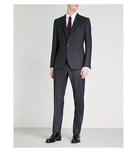 REISS Bishop slim-fit wool and mohair-blend suit (Midnight+navy