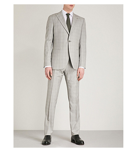 REISS Tudor modern-fit wool and mohair-blend suit (Soft+grey
