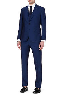 REISS Lungano three-piece wool suit