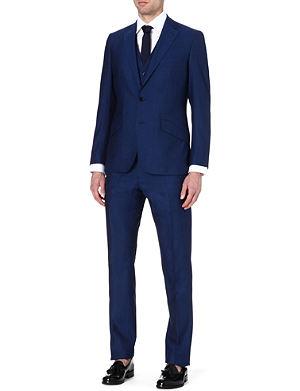 REISS Lungano three-piece wool suit