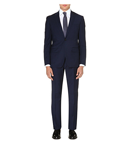 REISS Youngs two-piece wool-blend suit (Indigo
