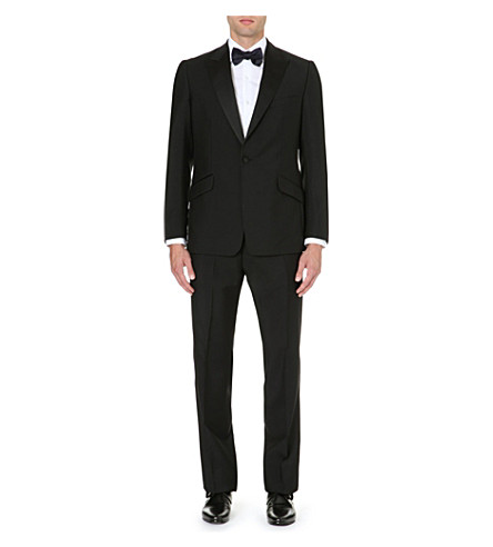 REISS Mayfair peak lapel dinner suit (Black