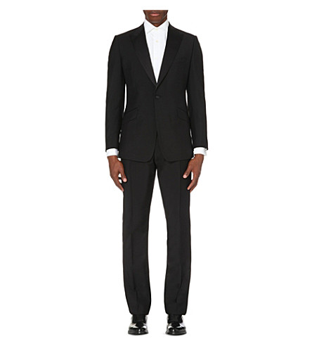 REISS Mayfair wool and mohair blend suit (Black