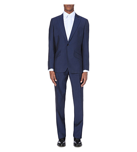 REISS Venice wool and mohair-blend suit (Blue