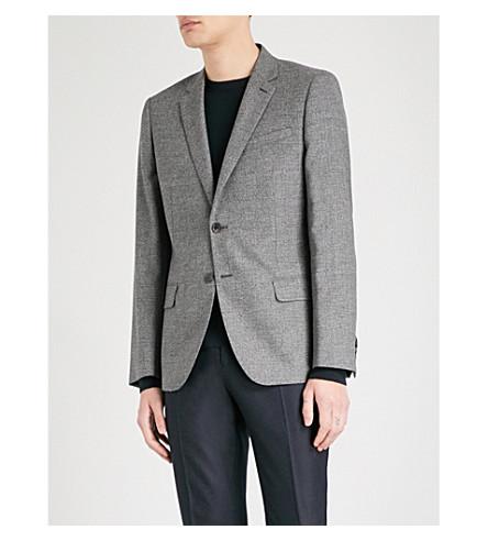 REISS Bronson slim-fit wool jacket (Charcoal