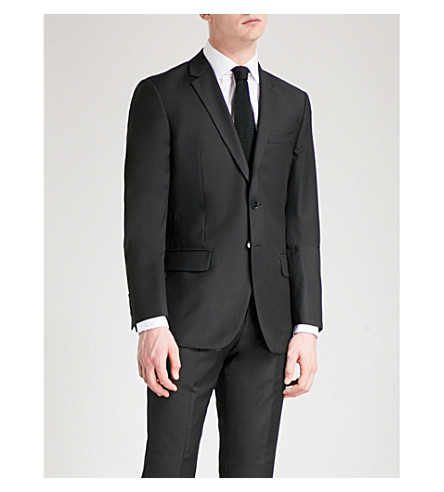REISS Harry modern-fit wool jacket (Black