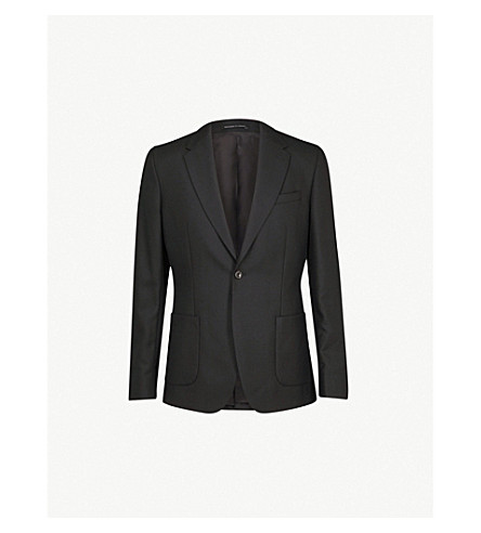 REISS Rage slim-fit wool jacket (Black