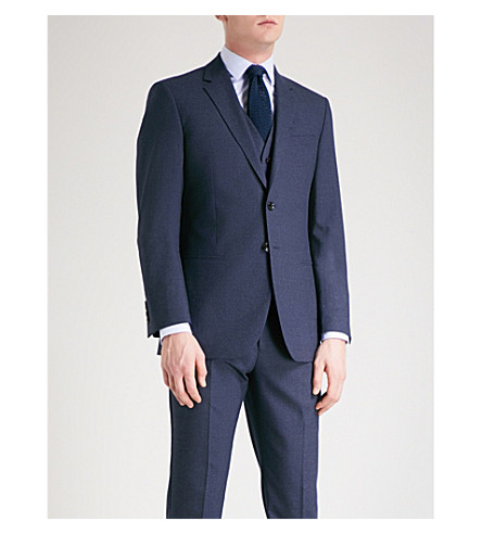 REISS Robin modern-fit wool jacket (Airforce+blue