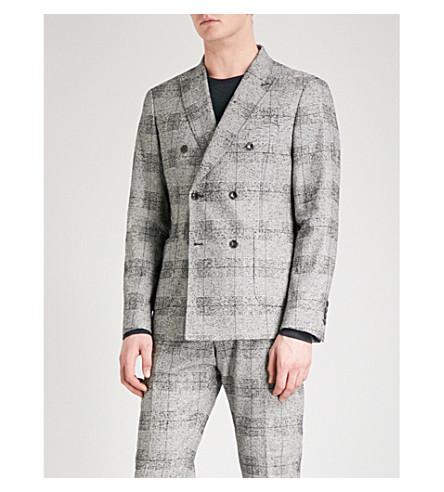 REISS 布拉格修身版型棉混纺夹克 (灰色