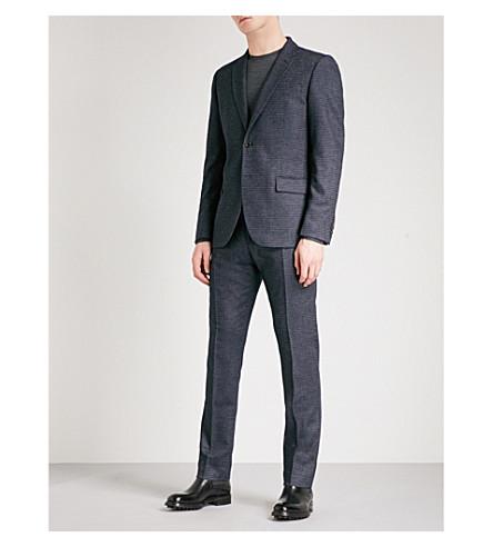 REISS Greaves slim-fit wool-blend jacket (Navy
