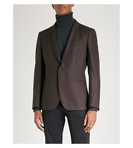 REISS Hefner wool blazer (Bordeaux