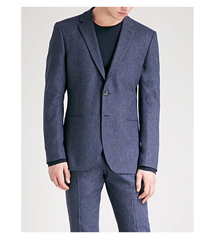 REISS Reynolds modern-fit wool-blend jacket (Airforce+blue