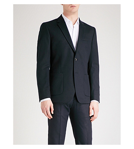 REISS Chump classic-fit wool-blend jacket (Navy