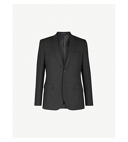 REISS Bravo B modern-fit wool jacket (Black