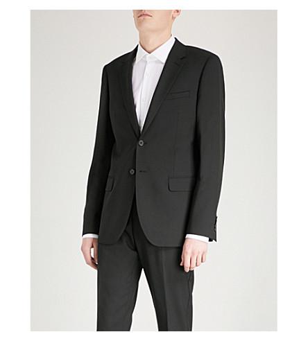 REISS Bravo B modern-fit wool jacket (Black