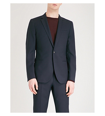 REISS Charlie B slim-fit wool jacket (Navy