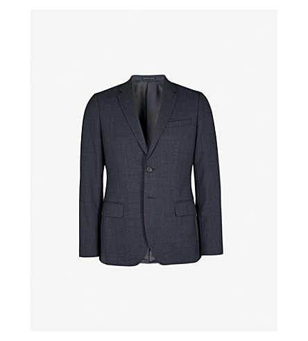 REISS Daze B tailored-fit wool jacket (Navy