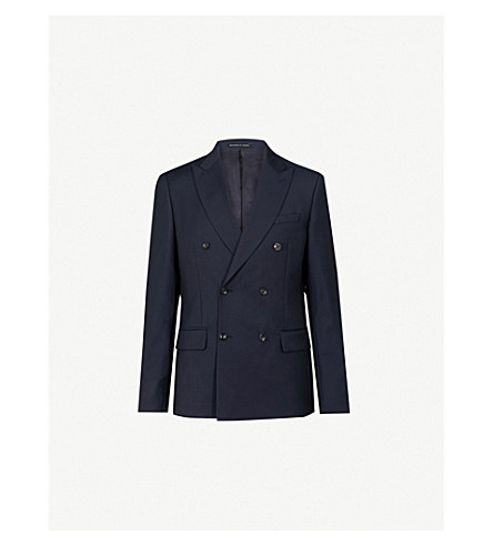 REISS Carlotta B slim-fit wool jacket (Navy