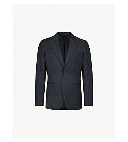 REISS Mason modern-fit wool jacket (Navy