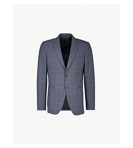 REISS Tremezzo modern-fit wool jacket (Airforce+blue