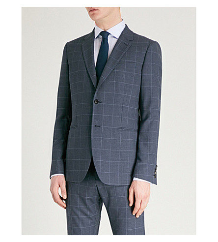 REISS Tremezzo modern-fit wool suit (Airforce+blue