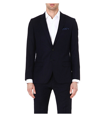 REISS Fairline wool-mohair blazer (Navy