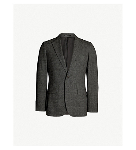 REISS Gere single-breasted wool blazer (Charcoal