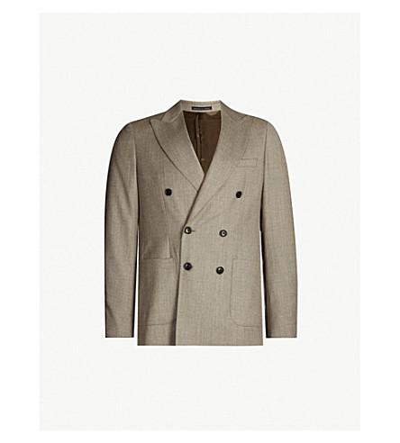 REISS Welder slim-fit wool blazer (Taupe