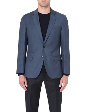 REISS Daniel slim-fit single-breasted jacket