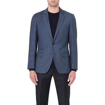 REISS Daniel slim-fit single-breasted jacket (Airforceblue