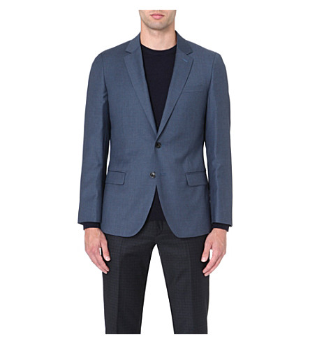 REISS Daniel slim-fit single-breasted jacket (Airforceblue