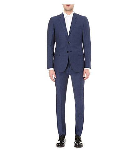 REISS Harry single-breasted wool jacket (Airforce+blue