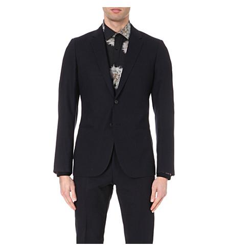 REISS Matsuda slim-fit wool blazer (Navy