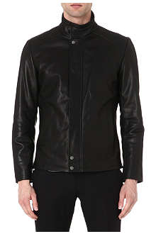REISS Gentry leather jacket