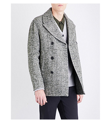 REISS Bogart wool-blend coat (Green