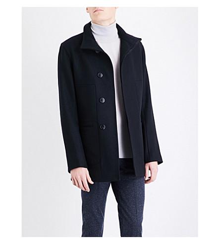 REISS Brute wool-blend coat (Navy