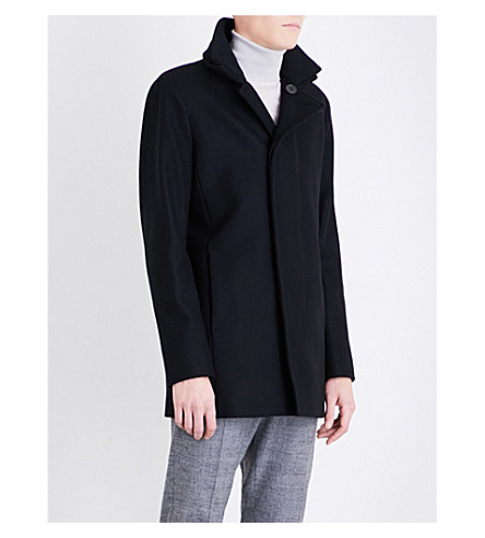 REISS Curraghmore wool-blend coat (Black